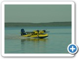 Another picture of Steve's plane landing. To see more pictures of this Widgeon see www.harveyflyingservice.com.